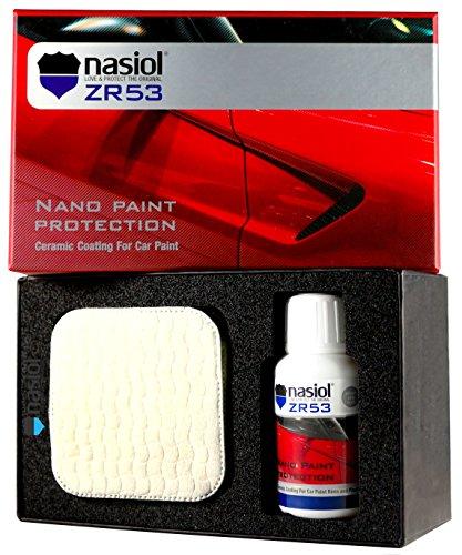 NASIOL ZR53 Car Ceramic Coating Nano 9h Paint Protection 50 ml. Kit (1.7 fl. (Car Ceramic)