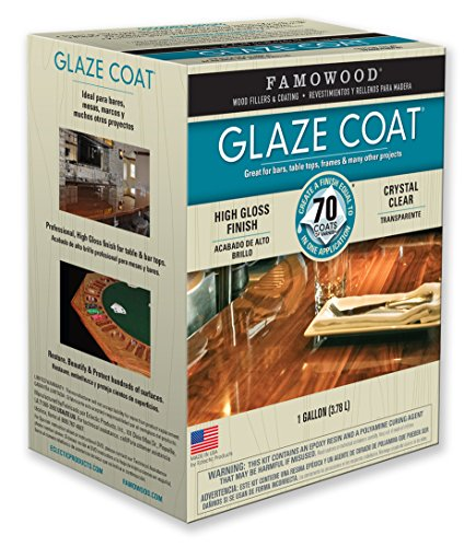 FamoWood 5050110 Glaze Coat Kit - Gallon - Glaze Clear Crystal