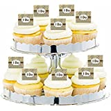 CakeSupplyShop Item#24374 Vintage Kraft I Do Cupcake Decoration Topper Picks -12ct