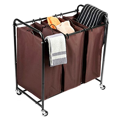 Rolling Laundry Sorter, MaidMAX 3-Bag Heavy Dut...
