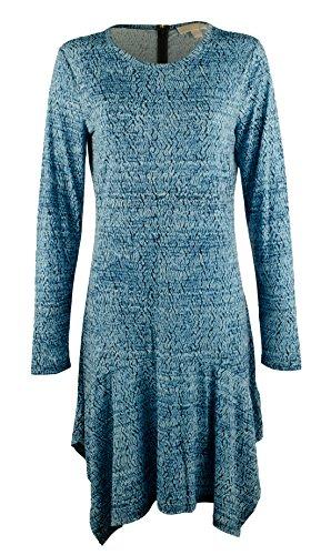 MICHAEL Michael Kors Women's Plus Size Long Sleeve Printed Drop-Waist Dress-HB-2X
