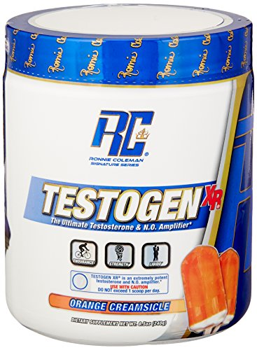 Ronnie Coleman Signature Series Testogen-XR, Natural Testosterone Booster and Nitric Oxide Amplifing Combo, Orange Creamsicle, 240 Gram/30 Servings