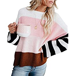Women's Casual  Oversized Lightweight Sweater Long Sleeve Knit Pullover Jumper Tops