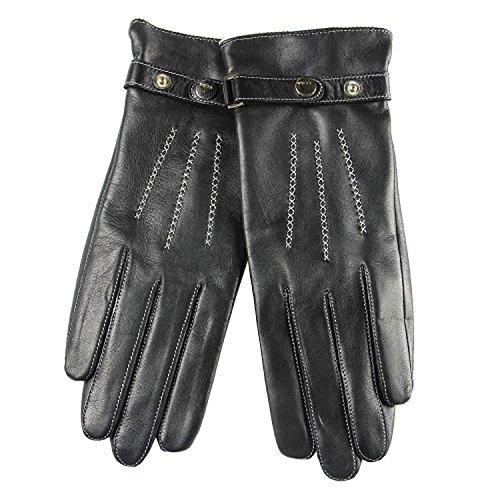 フライトモスク出発2015新しい調整可能なバックル冬ナッパ革手袋カシミアライニング