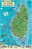 St. Lucia Dive Map & Reef Creatures Guide Franko Maps ...