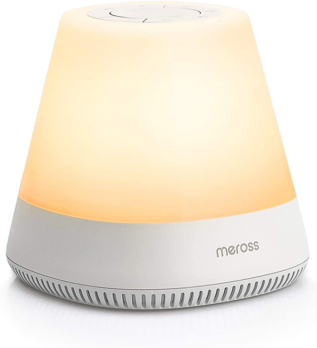 Meross Smart Baby Rest Night Light, Nursery Sound Machine, Toddler Sleep Trainer, Works with Alexa and Google Assistant
