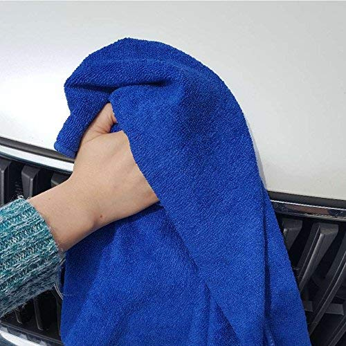 UTowels Professional Grade Premium Multi-Color Microfiber Towels 16'' x 16'' for All House Cleaning and Car Cleaning (144, Royal Blue) by UTowels (Image #3)
