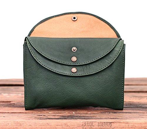 PAUL femme vintage cuir LA style MINAUDIÈRE main Vert pochette à Délavé MARIUS Sac vwOwRqaP