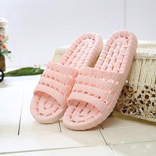 Fheaven Donna Uomo Estate Sandali Casual Appartamenti Esterni Pantofole Da Bagno Antiscivolo Rosa