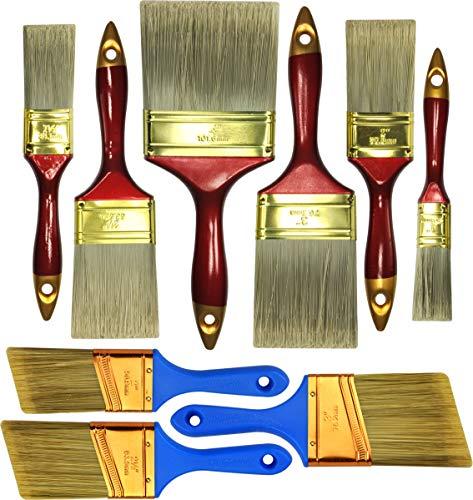 Interior Paint Quality Semi Latex - 10 Piece Professional Painters Heavy Duty Paint Brush,Paint Brushes,Paint Brushes Set,Paint Brushes,Painters Tools,Painters Brush,Painters Paint Brush