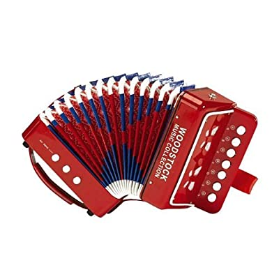 Woodstock Percussion, Inc. Child Sized Accordion with Illustrated Song Sheet: Toys & Games