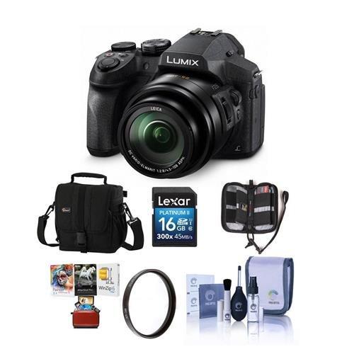 Panasonic Lumix DMC-FZ300 12 1MP Digital Camera 24x Zoom - Bundle with  Camera Case, 16GB SDHC Card, 52mm UV Filter, Memory Wallet, Cleaning Kit,  Mac