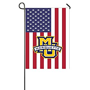 MATTHE Universidad Marquette Golden Eagles Custom de Estados Unidos bandera de Jardín