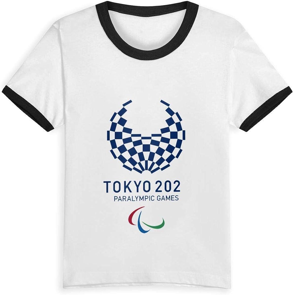 CY SHOP Love Childrens Boys Girls Contrast Short Sleeve T-Shirt