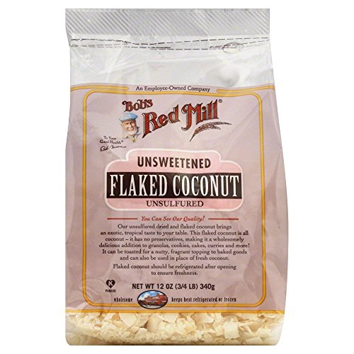 Bobs Red Mill Flaked Coconut, Unsweetened 12.0 OZ(Pack of 3) by Bob's Red Mill