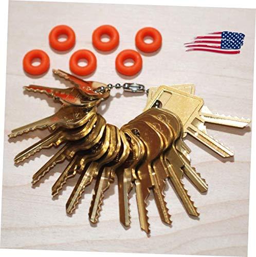 Key Ring Padlock - OKA New 15 Original Offset, Padlock Key Set with Bump Rings USA - RK194