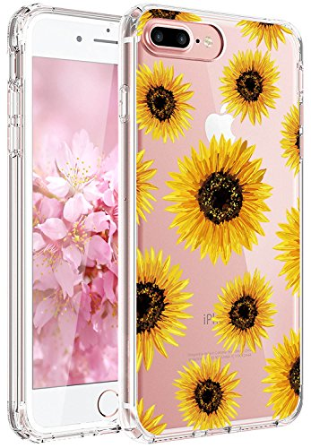JAHOLAN iPhone 6 Case, iPhone 6S case Girl Floral Clear TPU Soft Slim Flexible Silicone Cover Phone case for iPhone 6 iPhone 6S - Sun Flowers