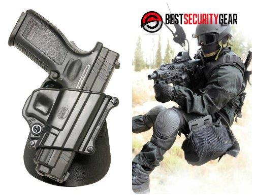 SP11B Fobus Black paddle Right Hand RH Gun Holster for Taurus 24/7 9mm & .40 cal & Taurus Millennium PT-145, PT-745, Taurus PT609 & Taurus Millennium Pro, Taurus Titanium & Springfield Armory XD, XDM 9mm .357 & .40 cal & HS P2000 (Croatia) 9mm .357 & .40 cal & H&K P2000 9mm .357 & .40 cal & Sig Sauer Models 250 / 250C & Sig Sauer 2022 & Ruger 345 + Best Security Gear Magnet