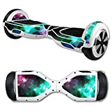 MightySkins Protective Vinyl Skin Decal for Hover Board Self Balancing Scooter mini 2 wheel x1 razor wrap cover sticker Glow Stars