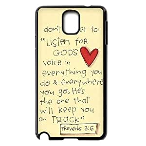 Christian,Bible Verses Quotes New Fashion DIY Phone Case for Samsung Galaxy Note 3 N9000,customized cover case ygtg-766726