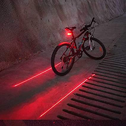 5 LED Waterproof Bicycle Rear Light Cycling Mountain Bike Red Tail Safety Lamp