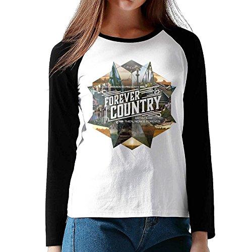 megge-forever-country-female-t-shirt-tops-black-s