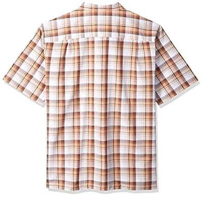 Van Heusen Men's Big and Tall Air Short Sleeve Button Down Plaid Shirt