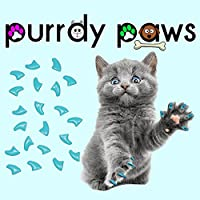 40-Pack Soft Nail Caps for Cat Claws Sky Blue Medium Purrdy Paws