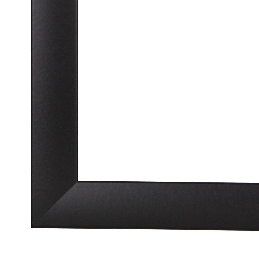Olimp Bilderrahmen 70x150 oder 150x70 cm in SCHWARZ normal Kunstglas und Rückwand, 35 mm breite MDF-Leiste mit Dekor Folienummantelung