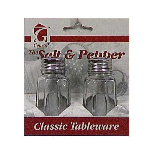 Lifetime Brands Salt & Pepper Set 1 Oz Clear Glass