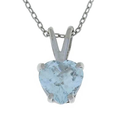 1 ct genuine aquamarine heart pendant 925 sterling silver rhodium 1 ct genuine aquamarine heart pendant 925 sterling silver rhodium finish aloadofball Gallery