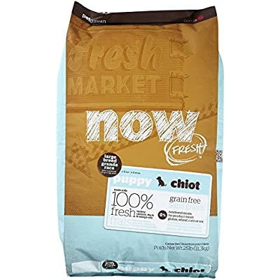 Now! 152504 Fresh Grain Free Large Breed Puppy Food, 25-Pound Bag