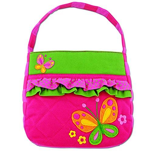 Borsa imbottita per bambini rosa con farfalla Stephen Joseph