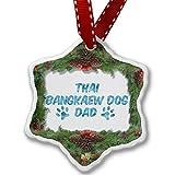 Christmas Ornament Dog & Cat Dad Thai Bangkaew Dog - Neonblond