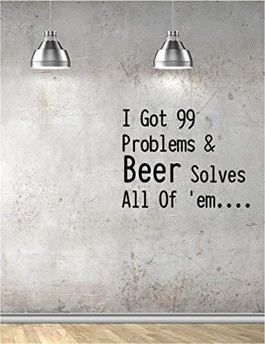 Online Design Beer 99 Problems Vinyl Wall Art Kitchen Bar Pub Restaurant