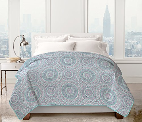 Lowest Prices! Regal Bedding Collections Kenton Geometric Patterned Quilt (Full/Queen) - Assorted Co...