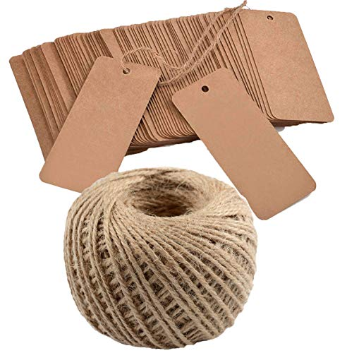 Maydahui 150pcs Kraft Paper Gift Tags Rectangle Price