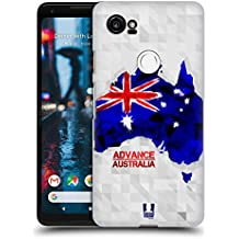 Head Case Designs Australia Geometric Maps Hard Back Case for Google Pixel 2 XL