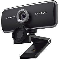¡Creative Live! Cam Sync 1080p Full HD - Cámara web USB de gran angular con doble micrófono integrado, tapa de lente de…