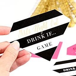 Drink If Game - Girls Night Out - Party Game Cards - 24 Count
