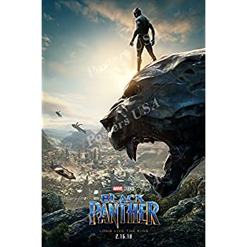 Amazon.com: RARE POSTER marvel BLACK PANTHER movie 2018 ...