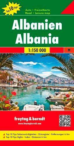 Albania, Top 10 Tips, Road map 1:150,000 (English, French, Italian and German Edition) (Amazon Albania)