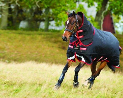 Horseware Ireland Rambo Supreme Turnout Med w Varila, Black Silv, 72_6'0