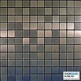FLEXIPIXTILE,10-Piece Aluminum Mosaic Tile, Peel & Stick, Backsplash, Accent Wall, FROZEN
