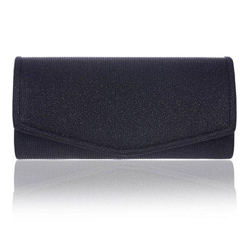 Damara Stylish Out Night Women Handbag Smooth Black Clutch rt5qtw