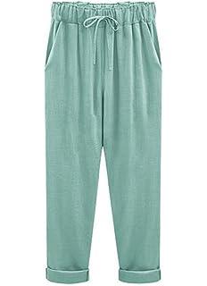 BIRAN Pantalon De Survêtement pour Femme avec Poches Latérales À breal  Cordon De Serrage Pantalon Décontracté facfd8cc00a