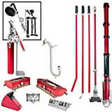 Level5 Full Drywall Taping and Finishing Tool Set with FREE STILTS and 9'' Disc POWER SANDER