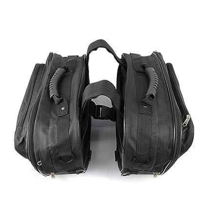 KKmoon 1 Par Alforjas para Moto, Motocicleta Bolsa de Herramientas Impermeable Alforja Lateral de Viaje