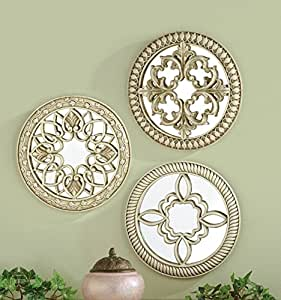 Amazon.com: Set of 3 Elegant Ornate Round Architectural ...