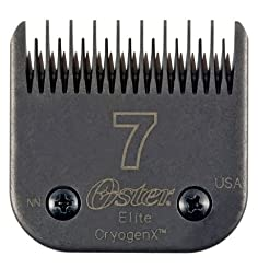 Oster Elite CryogenX Professional Animal Clipper Blade, Size # 7 Skip Tooth